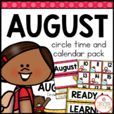 AUGUST MORNING MEETING CALENDAR AND CIRCLE TIME RESOURCES