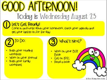 August Classroom Slides EDITABLE
