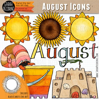 August Clip Art {First Edition}