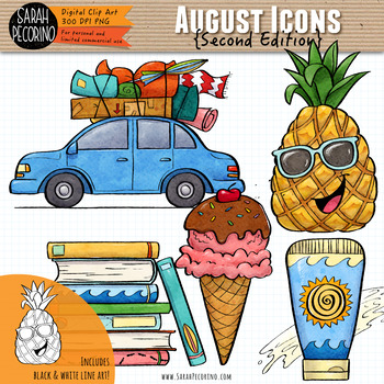 August Clip Art {Second Edition}