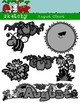 August Clipart / Graphics and Monthly Header 300dpi Color,
