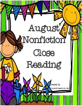 August Close Reading