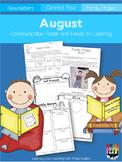 August Communication Folder and Homework Packet