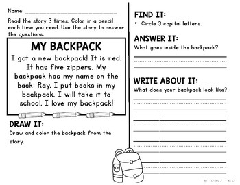 Comprehension Passages and Questions for Little Learners: August