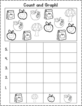 August Count and Graph It:  Back To School Graphing
