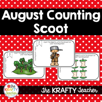 Counting Sets Scoot for August Apple Themed