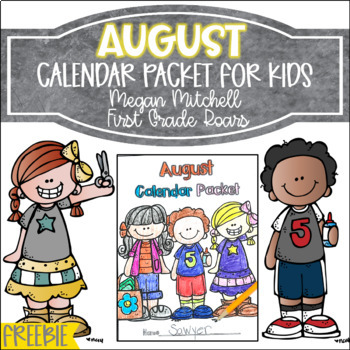 August Daily Calendar Review & Math Practice Freebie