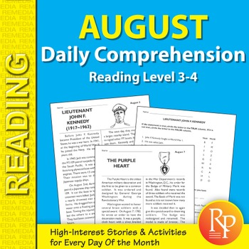 August: Daily Comprehension