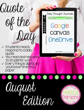 August Journal Prompts for Google Drive