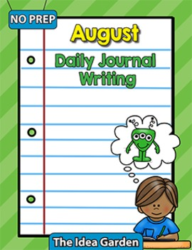 August Daily Journal Writing - NO PREP