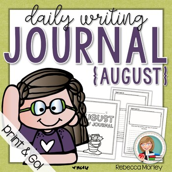 August Daily Journal (Writing Prompts)