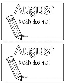 August Daily Math Journal (Common Core Aligned)