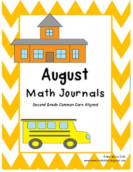 August Daily Math Journal: Second Grade Common Core