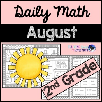 August Daily Math Review 2nd Grade Common Core