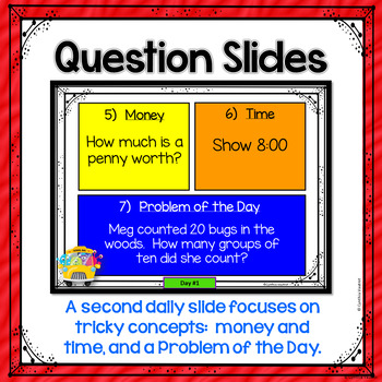 August Daily Math Spiral for 2nd grade (Common Core)