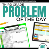 Daily Problem Solving for 3rd Grade: August Word Problems