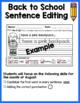 August Sentence Editing