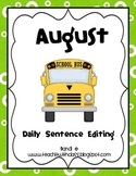 August Daily Sentence Editing