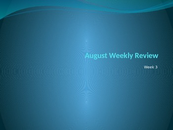 August Daily Skills Review Week 3
