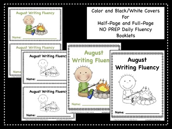 August Daily Writing Fluency Prompts - 31 Sentence Starters