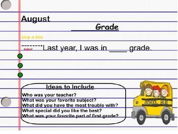 August Daily Writing Journal Prompts