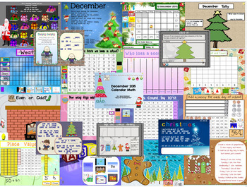 August-January Calendar Math for the Promethean Board (Activboard) BUNDLE!