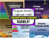 August-January Calendar Math for the Promethean Board (Act
