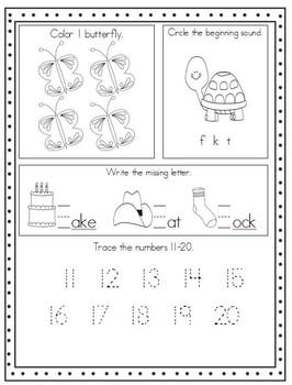 August-December Kindergarten Morning Work