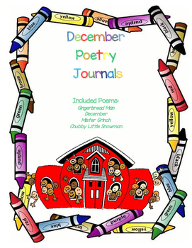 August - December Poetry Journal/Center BUNDLE