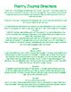 August - December Poetry Journal/Center BUNDLE