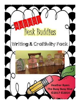 August Desk Buddies {Writing & Craftivity}