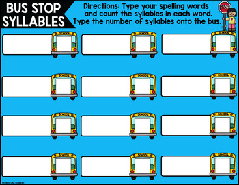 August Digital Spelling Activities for Word Work