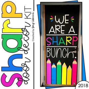 August Door Decoration Set: We Are A SHARP Bunch!