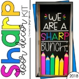 August Door Decoration Set: We Are A SHARP Bunch!