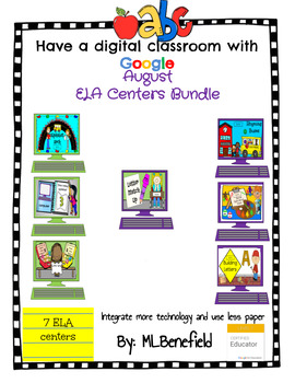August ELA Centers Bundle (in Google: Digital and Interactive)
