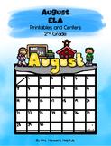 August ELA Printables and Centers Grade 2