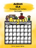 August ELA Printables and Centers Grade 3