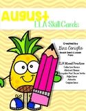 August ELA Skill Cards