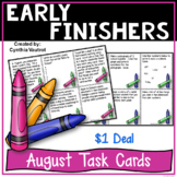 Early Finishers Task Card Activities for August {$1 Deal}