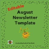 August Editable Newsletter Freebie