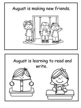 August Emergent Reader Flip Book