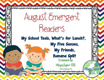 August Emergent Reader Mini-books (five readers)
