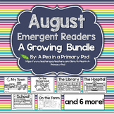August Emergent Readers and Response Activities Growing Bundle