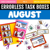 August Errorless Learning Task Boxes (16 Task Boxes Included)
