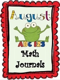 August Everyday Math Journals Printable