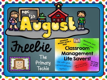 August FREEBIE - Classroom Management Life Savers
