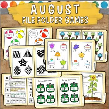 August File Folder Games