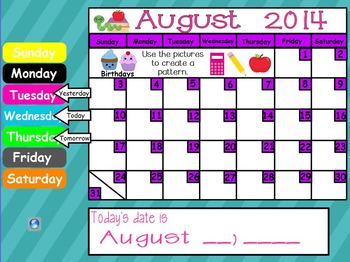 August 2017 First Grade ActivInspire Calendar & More