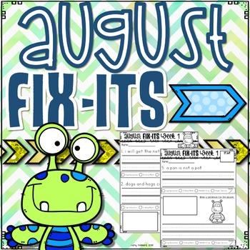 August Fix-It Sentences With Powerpoint