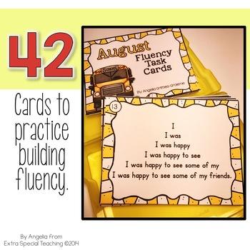 August Fluency Practice Task Cards
